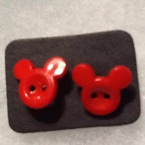 BN  Exclusive Disney Mickey Mouse Button Earrings